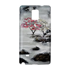 Mountains, Trees and Fog Samsung Galaxy Note 4 Hardshell Case