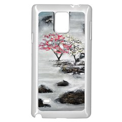 Mountains, Trees and Fog Samsung Galaxy Note 4 Case (White)