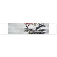 Mountains, Trees and Fog Flano Scarf (Small)