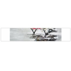Mountains, Trees and Fog Flano Scarf (Large)