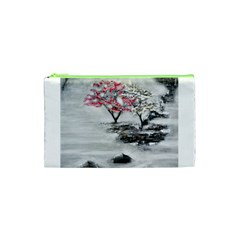 Mountains, Trees and Fog Cosmetic Bag (XS)
