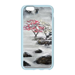 Mountains, Trees and Fog Apple Seamless iPhone 6 Case (Color)