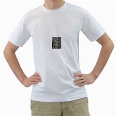 Unique Zebra Design Men s T-Shirt (White) (Two Sided)