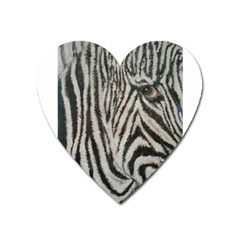 Unique Zebra Design Heart Magnet