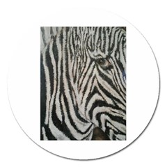 Unique Zebra Design Magnet 5  (round)
