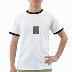 Unique Zebra Design Ringer T-Shirts
