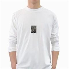 Unique Zebra Design White Long Sleeve T-Shirts