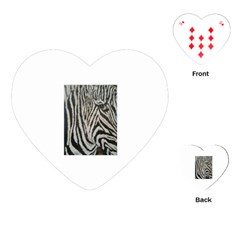 Unique Zebra Design Playing Cards (Heart)