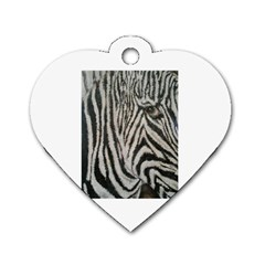 Unique Zebra Design Dog Tag Heart (two Sides)
