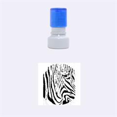 Unique Zebra Design Rubber Round Stamps (small)