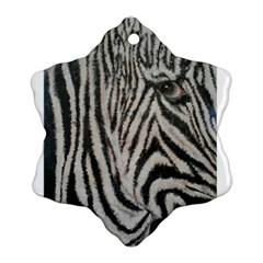 Unique Zebra Design Snowflake Ornament (2 Side)