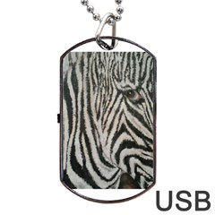 Unique Zebra Design Dog Tag USB Flash (One Side)