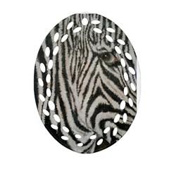 Unique Zebra Design Oval Filigree Ornament (2-Side)
