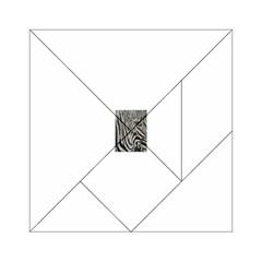 Unique Zebra Design Acrylic Tangram Puzzle (6  x 6 )