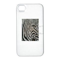 Unique Zebra Design Apple Iphone 4/4s Hardshell Case With Stand