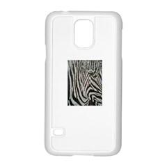 Unique Zebra Design Samsung Galaxy S5 Case (White)