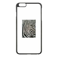 Unique Zebra Design Apple Iphone 6 Plus Black Enamel Case