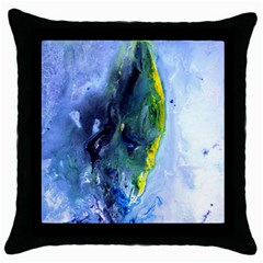 Bright Yellow And Blue Abstract Throw Pillow Cases (black)