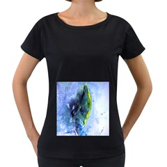 Bright Yellow And Blue Abstract Women s Loose Fit T Shirt (black)