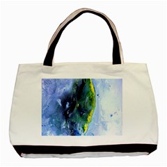 Bright Yellow And Blue Abstract Basic Tote Bag