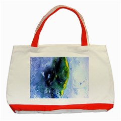 Bright Yellow And Blue Abstract Classic Tote Bag (red)