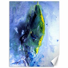 Bright Yellow And Blue Abstract Canvas 36  X 48