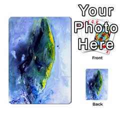 Bright Yellow And Blue Abstract Multi Purpose Cards (rectangle)