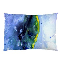 Bright Yellow And Blue Abstract Pillow Cases