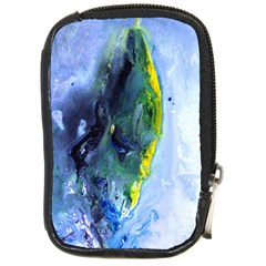 Bright Yellow And Blue Abstract Compact Camera Cases