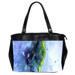 Bright Yellow And Blue Abstract Office Handbags (2 Sides)