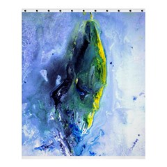 Bright Yellow And Blue Abstract Shower Curtain 60  X 72  (medium)