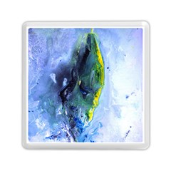 Bright Yellow And Blue Abstract Memory Card Reader (square)