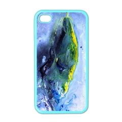 Bright Yellow And Blue Abstract Apple Iphone 4 Case (color)