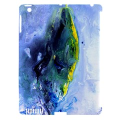 Bright Yellow And Blue Abstract Apple Ipad 3/4 Hardshell Case (compatible With Smart Cover)