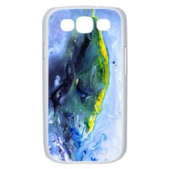 Bright Yellow and Blue Abstract Samsung Galaxy S III Case (White)