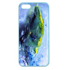 Bright Yellow And Blue Abstract Apple Seamless Iphone 5 Case (color)