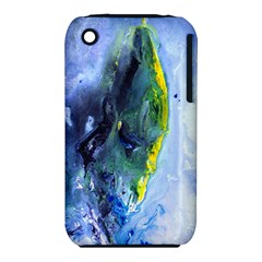 Bright Yellow And Blue Abstract Apple Iphone 3g/3gs Hardshell Case (pc+silicone)