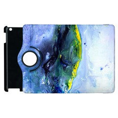 Bright Yellow And Blue Abstract Apple Ipad 2 Flip 360 Case