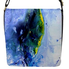 Bright Yellow And Blue Abstract Flap Messenger Bag (s)