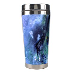 Bright Yellow And Blue Abstract Stainless Steel Travel Tumblers