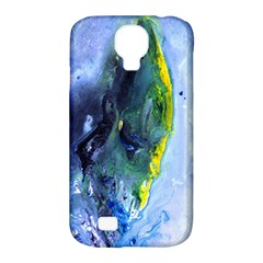 Bright Yellow And Blue Abstract Samsung Galaxy S4 Classic Hardshell Case (pc+silicone)