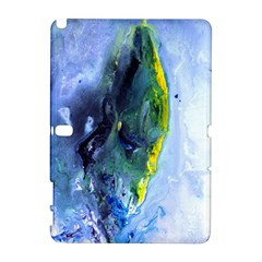 Bright Yellow And Blue Abstract Samsung Galaxy Note 10 1 (p600) Hardshell Case
