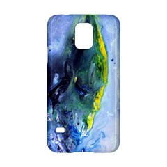 Bright Yellow And Blue Abstract Samsung Galaxy S5 Hardshell Case