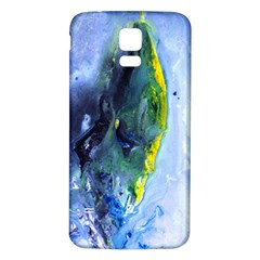 Bright Yellow and Blue Abstract Samsung Galaxy S5 Back Case (White)