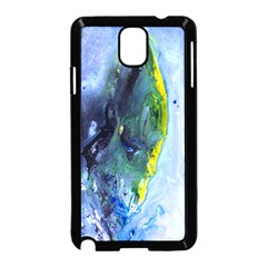 Bright Yellow And Blue Abstract Samsung Galaxy Note 3 Neo Hardshell Case (black)