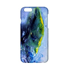 Bright Yellow and Blue Abstract Apple iPhone 6 Hardshell Case