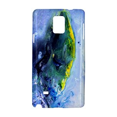 Bright Yellow and Blue Abstract Samsung Galaxy Note 4 Hardshell Case
