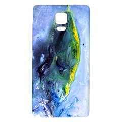 Bright Yellow and Blue Abstract Galaxy Note 4 Back Case
