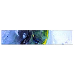 Bright Yellow and Blue Abstract Flano Scarf (Small)