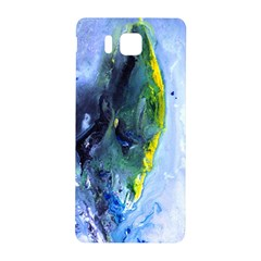 Bright Yellow and Blue Abstract Samsung Galaxy Alpha Hardshell Back Case